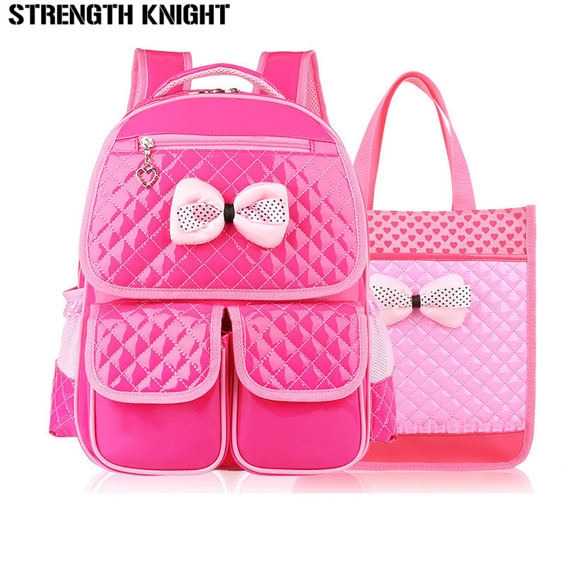 Lovely bow school bags for teenagers girls kids lightweight backpacks children orthopedics schoolbags backpack mochila infantil цена