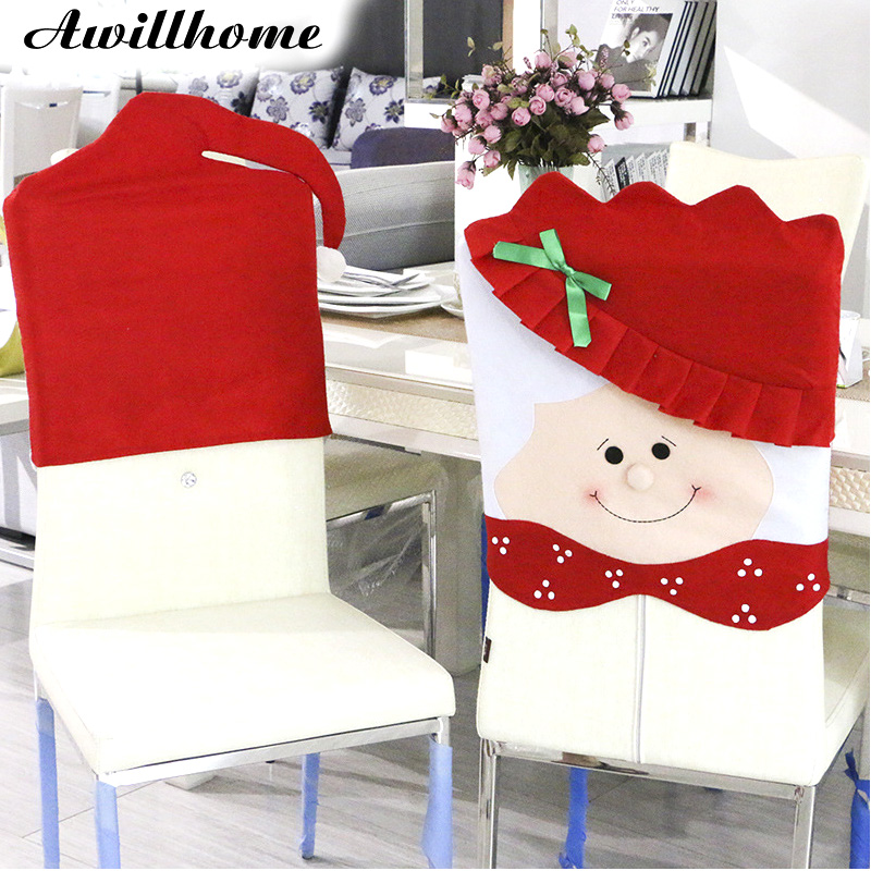 christmas dining room chair covers | 1PC Lovely Mr & Mrs Santa Claus Christmas Dining Room ...