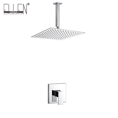 Bath Ceiling Shower Set with 8 inch Stainless Steel Shower Head Bathroom Rain Shower Mixer intelligent digital display bathroom shower set 8 inch rainfall shower head bath shower mixer with rain hand shower