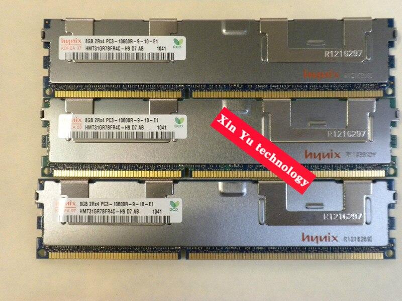Garantia vitalícia para hynix 8 gb 16 gb 24g 32 gb 1333 mhz PC3-10600R 8g memória rdimm do servidor do reg do ecc
