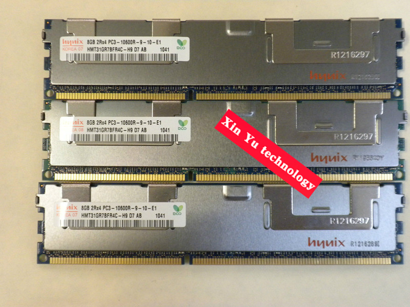 Lifetime warranty For hynix 8GB 16GB 24G 32GB 1333MHz PC3-10600R 8G ECC REG Server memory RDIMM RAM new for 647909 b21 647658 081 8g 1333 ecc udimm 1 year warranty