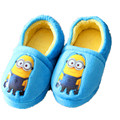 2016 New Cotton Slippers Winter Slippers Winter Minions Child Household Shoe Bag Minions Chrismas Gift  Warm Shoes TCCS6089