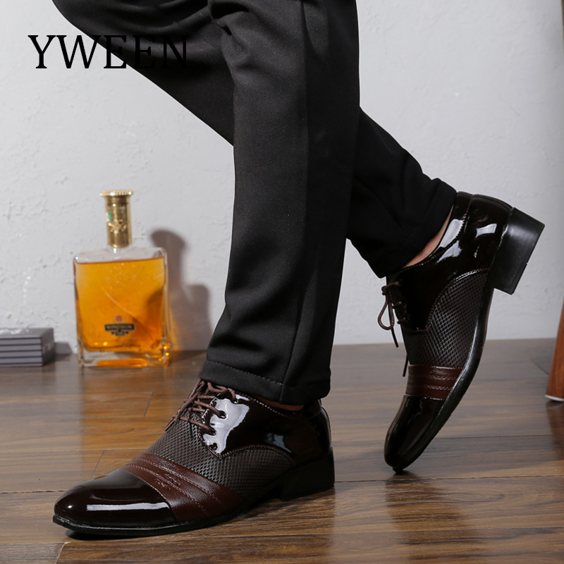 YWEEN New Men s Dress Shoes Men Business Flat Shoes Free Shipping  Breathable Men Formal Office Shoes Plus Size 38-47 08df64f20759