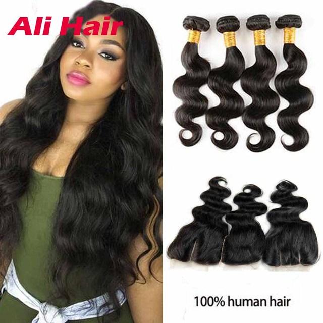 Brazilian Bohemian Human Hair With Closure 30 Inch Brazilian Wavy