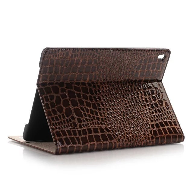 Hot sell Fashion High Quality Slim Crocodile Leather Case for iPad pro 12.9 Card Smart Cover With Stand Alligator Pattern Case