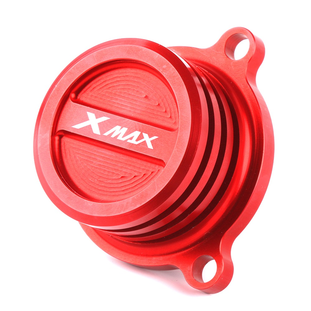 For Yamaha XMAX 250 ABS 300 400 2018 CNC Aluminum Alloy Motorcycle Reservoir Cup Engine Oil Filter Cover Cap цена и фото