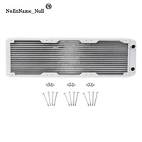 Water Cooling Accessories 360mm Aluminum Computer Radiator Water Cooler 18 Tube CPU Heat Sink Exchanger dropshipping