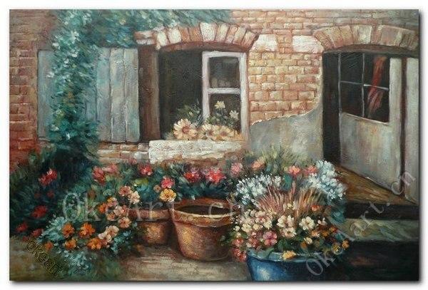 Slaapkamer Met Kunstmuur : Impressionistisch landschap olieverfschilderij hand geschilderd