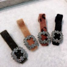 Korea Hair Accessories Wool Diamond Pearl Clips For Girls Crystal  Bows Hairpins Barrette Hairgrips