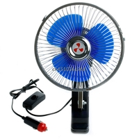 12V Powered Portable Auto Vehicle Car Fan Oscillating Cooling Fans With Clip