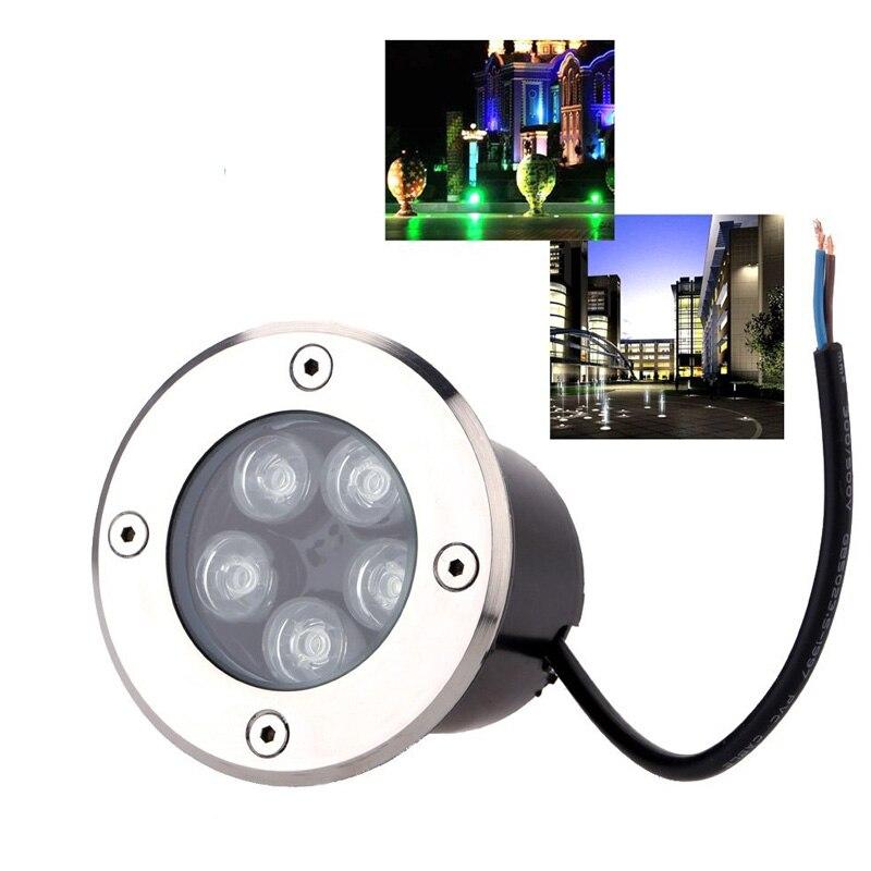 Waterdichte led licht tuin ondergrondse 1 W 3 W 5 W IP67 Outdoor Begraven Tuinpad Spot Verzonken Ingegraven Verlichting 85-265 V/DC12V