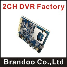 sd dvr pcba manufacturer, 2 channel SD DVR module, for home cctv dvr, mobile DVR, wide power range