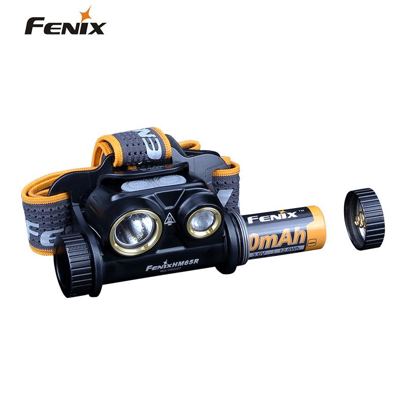 Image 4 - Fenix HM65R 1400 Lumen Dual Beam USB Rechargeable Headlamp with Spotlight and Floodlight-in Headlamps from Lights & Lighting
