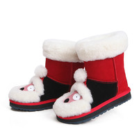 New Warm Children's Snow Boots Boys and Girls Baby Cartoon Boots Leather Boots