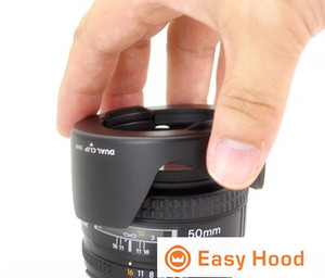 Image 2 - Evrensel Lens Hood boyutu 52mm 55mm 58mm 62mm 67mm 72mm 77mm 82mm çoğu için uygun kamera modelleri Drop Shipping