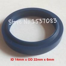 Hydraulic ram oil seal wiper seal polyurethane PU o-ring o ring 14mm x 22mm x 4.5mm x 6mm o x