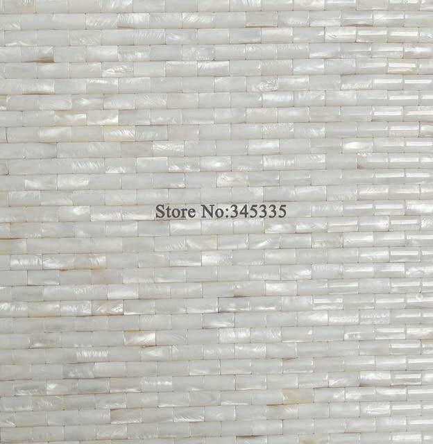 11 stÜcke weiß konvexen streifen shell mosaik fliesen perlmutt