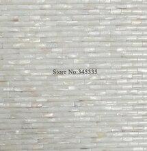 11 stcke wei konvexen streifen shell mosaik fliesen perlmutt tapete kche bad backsplash fliesen hochbau - Fliesen Tapete Kuche