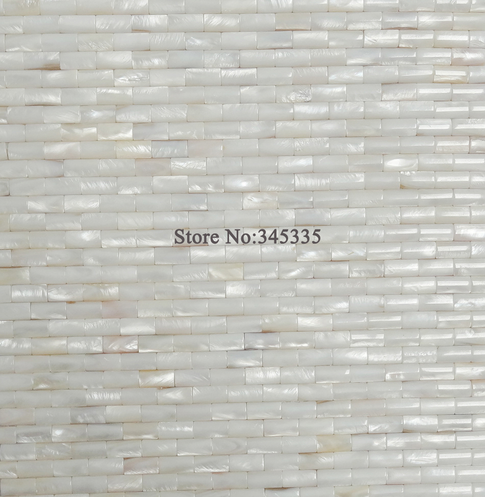 Kitchen And Bath Tile Stores White Convex Strip Shell Mosaic Tile Mother Of Pearl Wallpaper