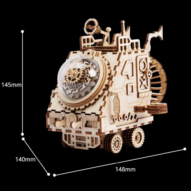 Robotime Creative DIY 3D Space Vehicle Wooden Puzzle Game Assembly Toy Gift for Children Teens Adult AM681