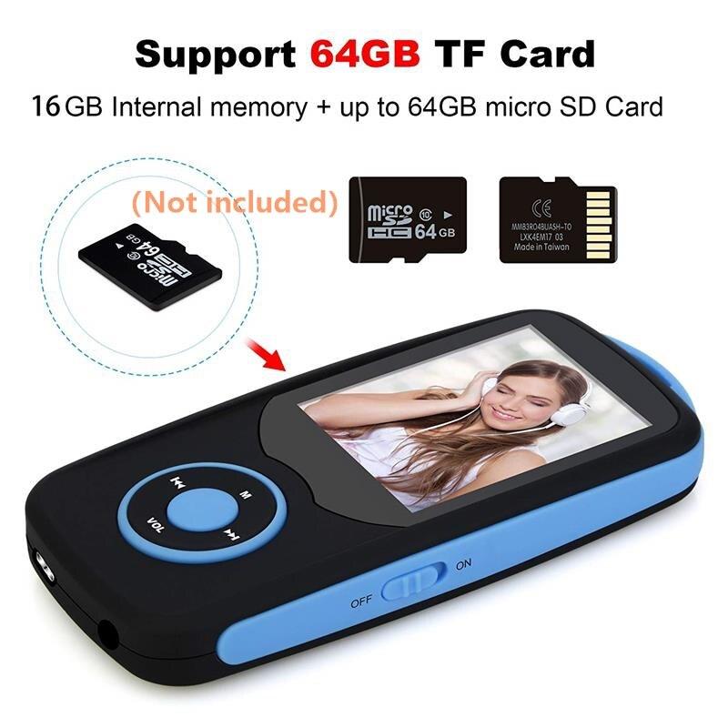 Bluetooth4.0 1.8 düymlük Rəng Menyu Ekranı olan MP3 Pleyer, FM - Portativ audio və video - Fotoqrafiya 3