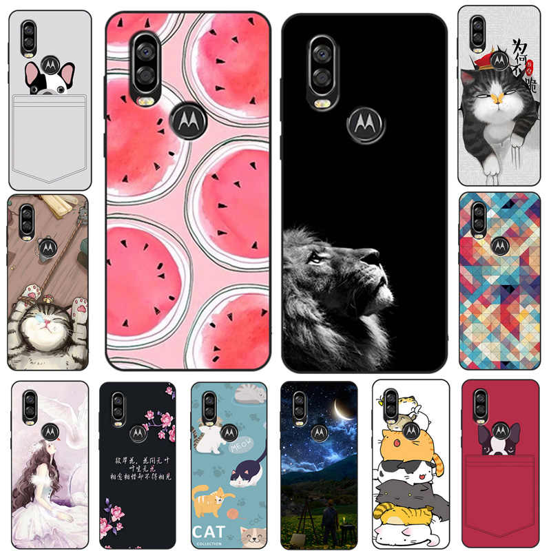 For Moto One Vision Case Cover Cat Dog Animal Cartoon Soft TPU Silicone Cover For Motorola One Vision / Moto P40 Phone Case