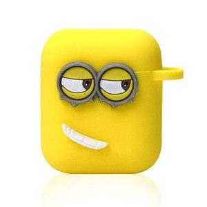 Image 5 - 귀여운 노란색 실리콘 이어폰 케이스에 대 한 애플 Airpods i7 i10 TWS 블루투스 헤드폰 케이스 이어폰 액세서리 선물에 대 한