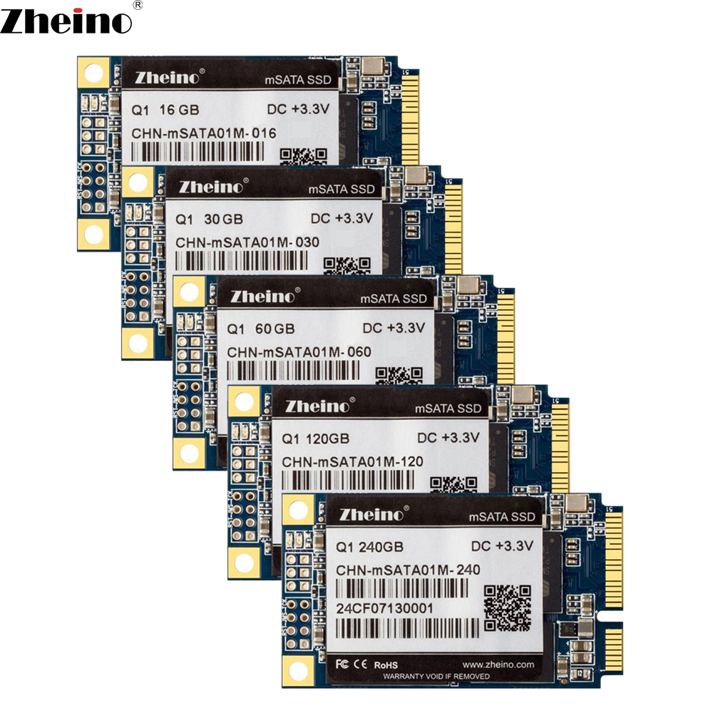 Zheino Q1 mSATA 16GB 30GB 60GB 120GB 240GB SSD SATA3 6GB/S Internal Solid State Drive 2D MLC Flash Hard Drive For Laptop Tablet