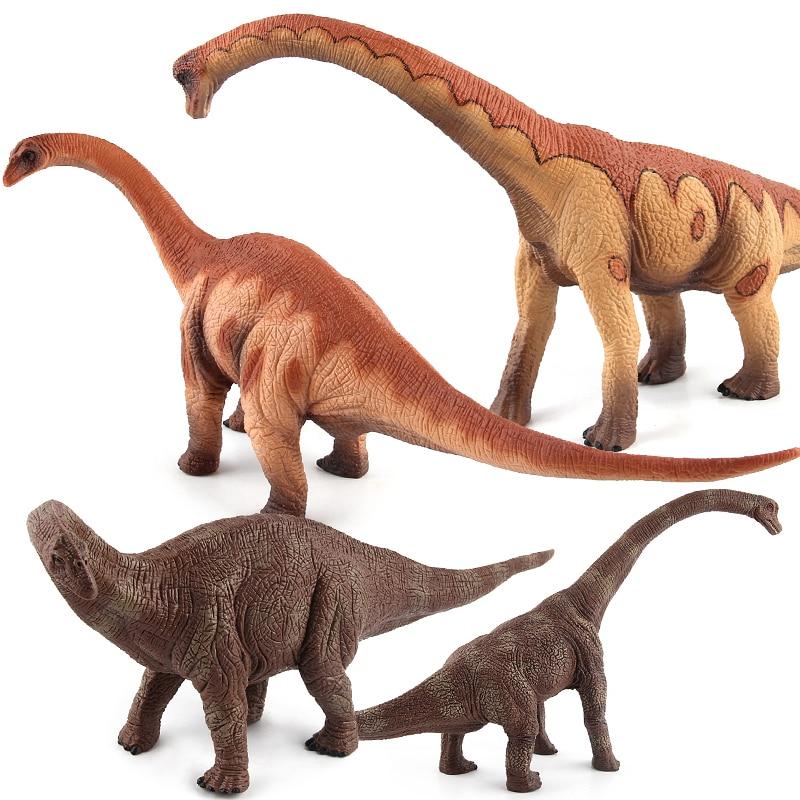 Jurassic World Park Brachiosaurus Plastic Dinosaur Toys Brontosaurus Model Action Figures Boys Christmas Gift #E velociraptor dinosaur toys action figures model wild animal pvc palaeobios plastic boys collections toy figure children gift