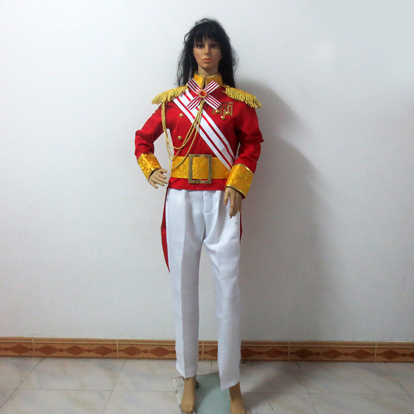 Versailles Rose Lady Oscar Oscar Guard Team Christmas Party Halloween Uniform Outfit Cosplay Costume Customize Any Size