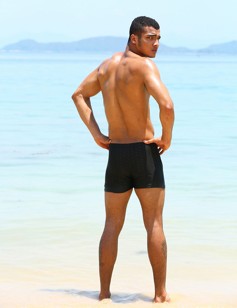 Topdudes.com - Men's Waterproof Quick-drying Sharkskin Swim Trunks Swimwear