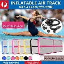 Надувные Гимнастика AirTrack акробатика Air следить пол батут электрический воздушный насос для дома Применение/обучение/Черлидинг/пляжные