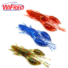 [5PCS] 7cm X 6g Soft Crayfish Lure Shoal Bass Fishing Soft Plastic Crayfishes Bait Multiple Colors Shrimps for Opitons