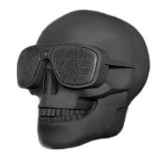 Kunststoff Metallischen Schädel Form Drahtlose Bluetooth Lautsprecher Sunglass NFC Schädel Lautsprecher Mobilen Subwoofer Mehrzweck Lautsprecher Cool