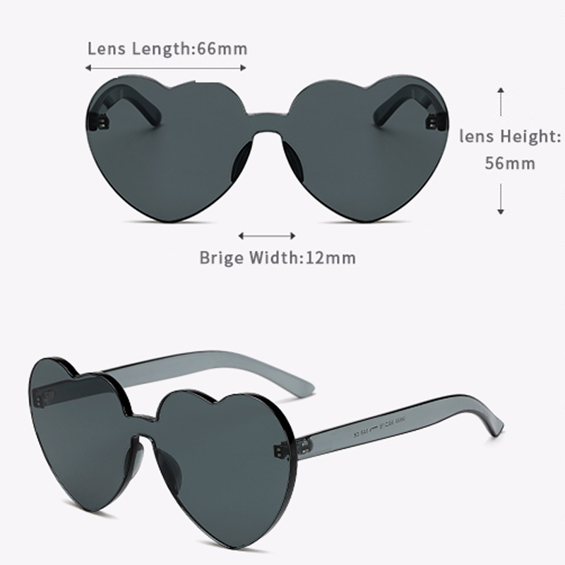 LongKeeper Love Heart Shaped Festival 90s Sunglasses Vintage Luxury - Aksesori pakaian - Foto 5
