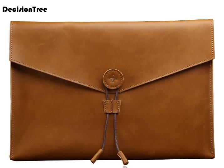New Genuine Leather Briefcase Simple Style Wearproof Bag British Style Business Easy-to-carry Small Bag Bolso Hombre C209