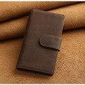 New Vintage Cowhide Leather Card Case Business Credit Card Holder Men Brown