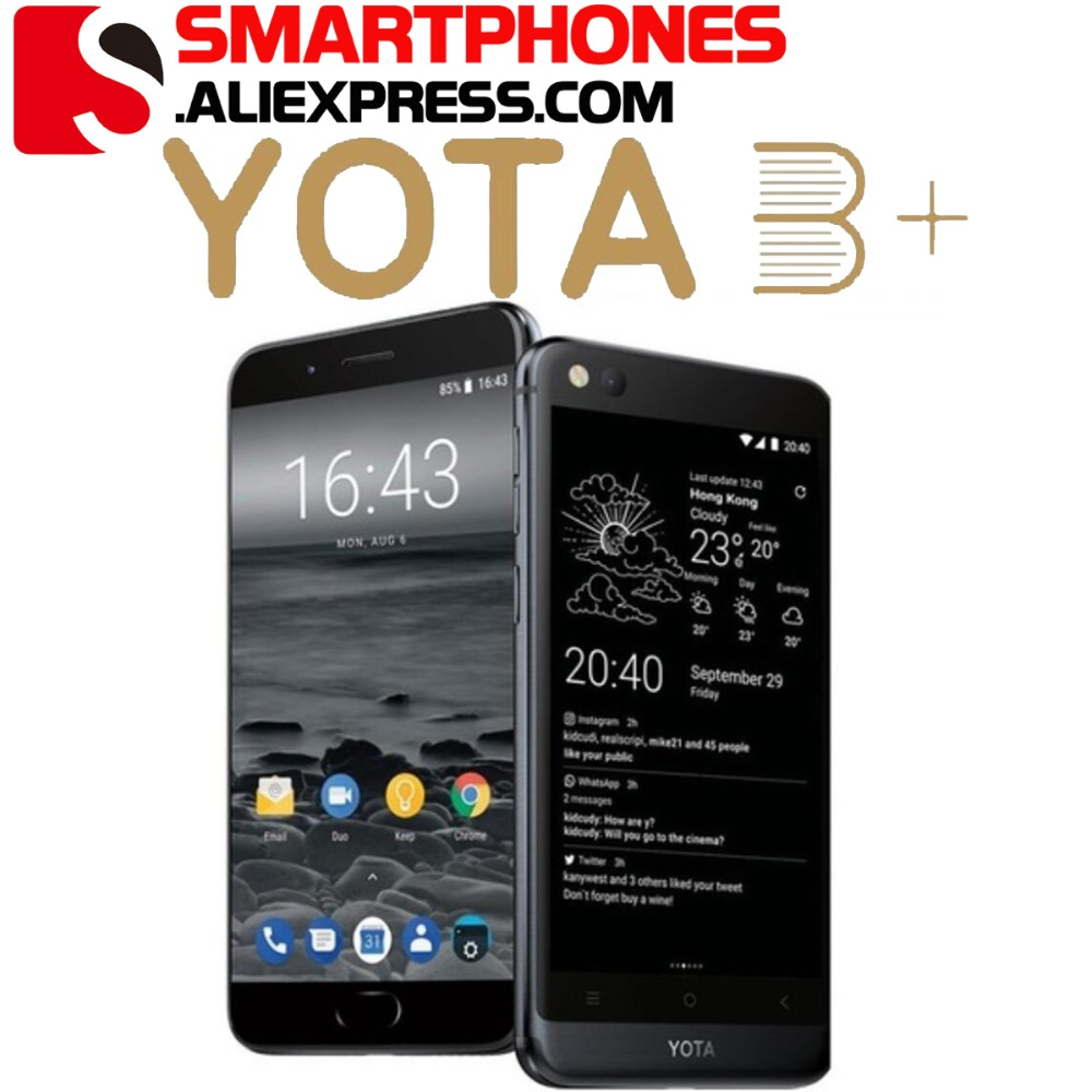 """Global version Yota 3+ Yotaphone3+ 64G/128G Android8.1OctaCore DualScreen 5.5"""" FHD screen 5.2"""" Touch E ink Snapdragon Smartphone-in Cellphones from Cellphones & Telecommunications    1"""