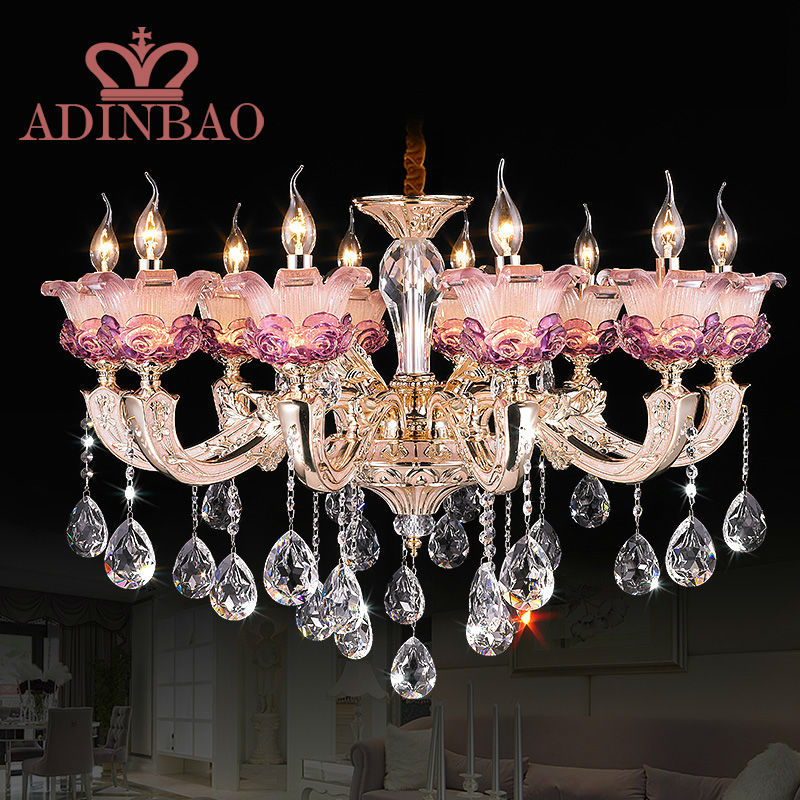 Romantic pink purple murano glass chandelier with crystal pendant romantic pink purple murano glass chandelier with crystal pendant 8531 10 in pendant lights from lights lighting on aliexpress alibaba group aloadofball Images