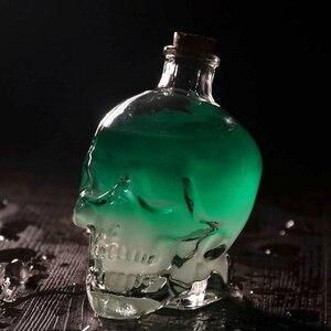 1 шт. Хрустальная стеклянная бутылка с черепом для коктейлей, шампанского, пива, кофе, вина, обреченная посуда для напитков, инструменты для б...