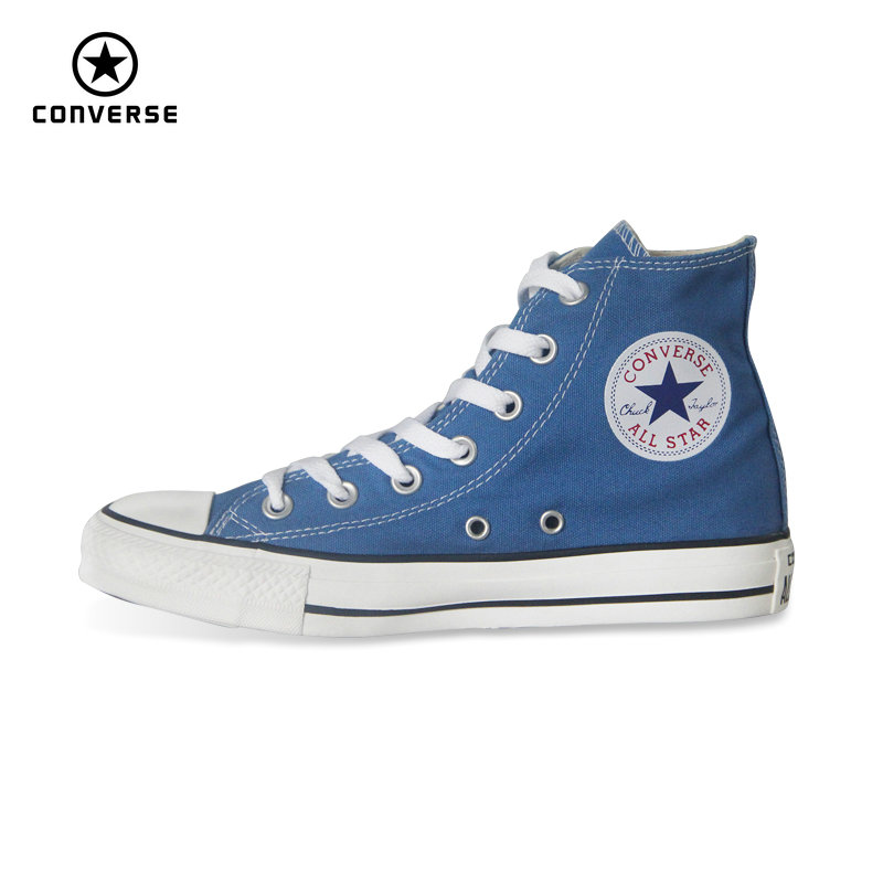 Original Converse all star shoes Sky blue high unisex sneakers canvas shoes for unisex High Skateboarding Shoes free shipping unisex white black converse all star skateboarding shoes original design octopus anchor men women s high top canvas sneakers
