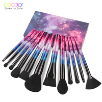Docolor 12 Pcs Professional Makeup Brushes Premium Synthetic Kabuki Makeup Brush Set Foundation Blending Blush Eyeshadow
