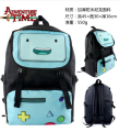 Polyester shoulder Purse Bag printed w/Anime Adventure Time with Finn and Jake BMO Backpack Bookbag