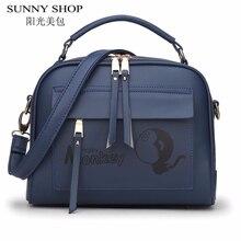 SUNNY SHOP Мультфильм Щитка tote сумки на ремне роскошные crossbody сумка дизайнер кожаные сумки сумки женщины известных брендов сумки посыльного