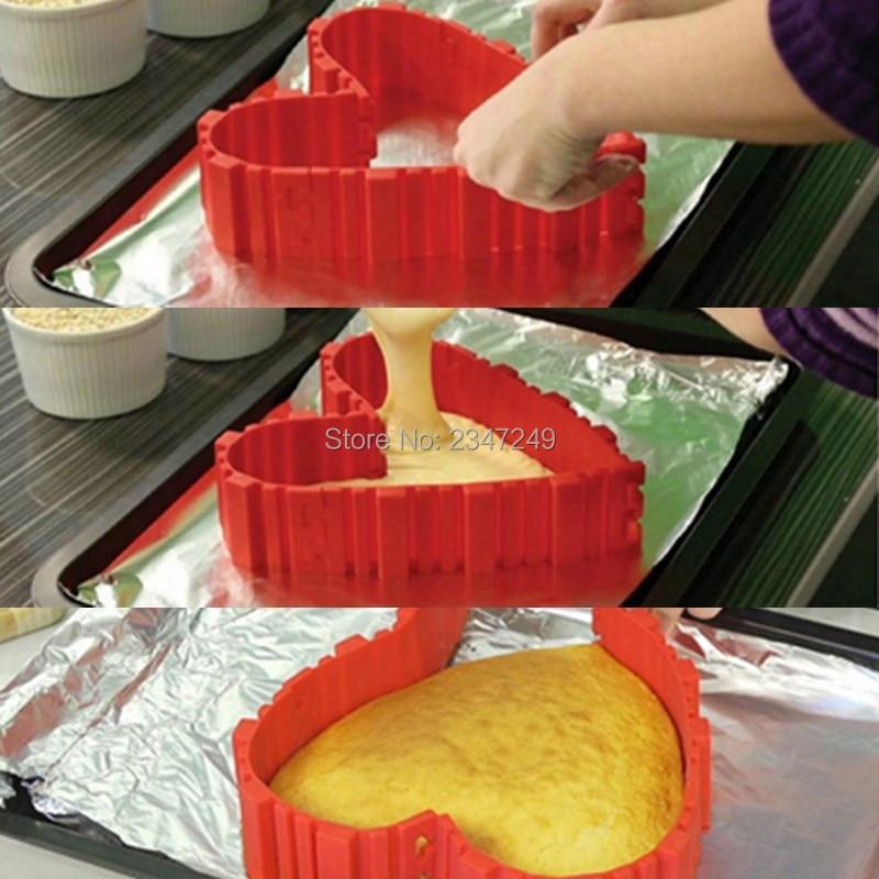 4Pcs / set Magic Bake Snakes Food Grade Silicone Cake Mould Bake Diy - სამზარეულო, სასადილო და ბარი - ფოტო 4