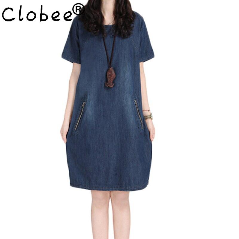 Women's Clothing 2019 Summer Style Women Denim Dress Plus Size Short Sleeve T Shirt Jeans Dress Vestido Women Vintage Casual Dress Robe Vestidos Keep You Fit All The Time