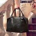 Nueva Moda Bolsas de Equipaje Bolsa de Viaje de Los Hombres de Cuero Genuino grande hombres Duffle Bolsa de fin de semana de Las Mujeres Bolsa de Hombro Grande Del Bolso de Mano negro