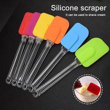 Многоразовый скребок для посуды, инструмент для выпечки, силиконовый термостойкий крем для торта, лопатка-скребок, кухонные принадлежности, скребок