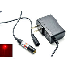 12x55mm Focusable 20mw 650nm Red Laser Locator Module Focus Dot Sewing / Positioning w 5V AC Adapter
