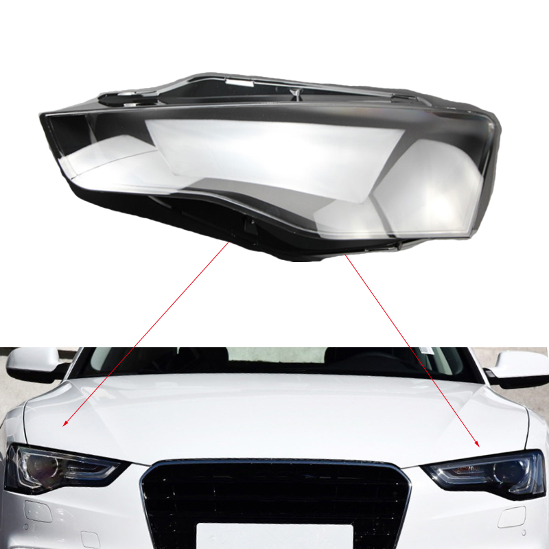 Front headlights headlights glass lamp shade shell lamp cover transparent masks To for Audi A52012 2016